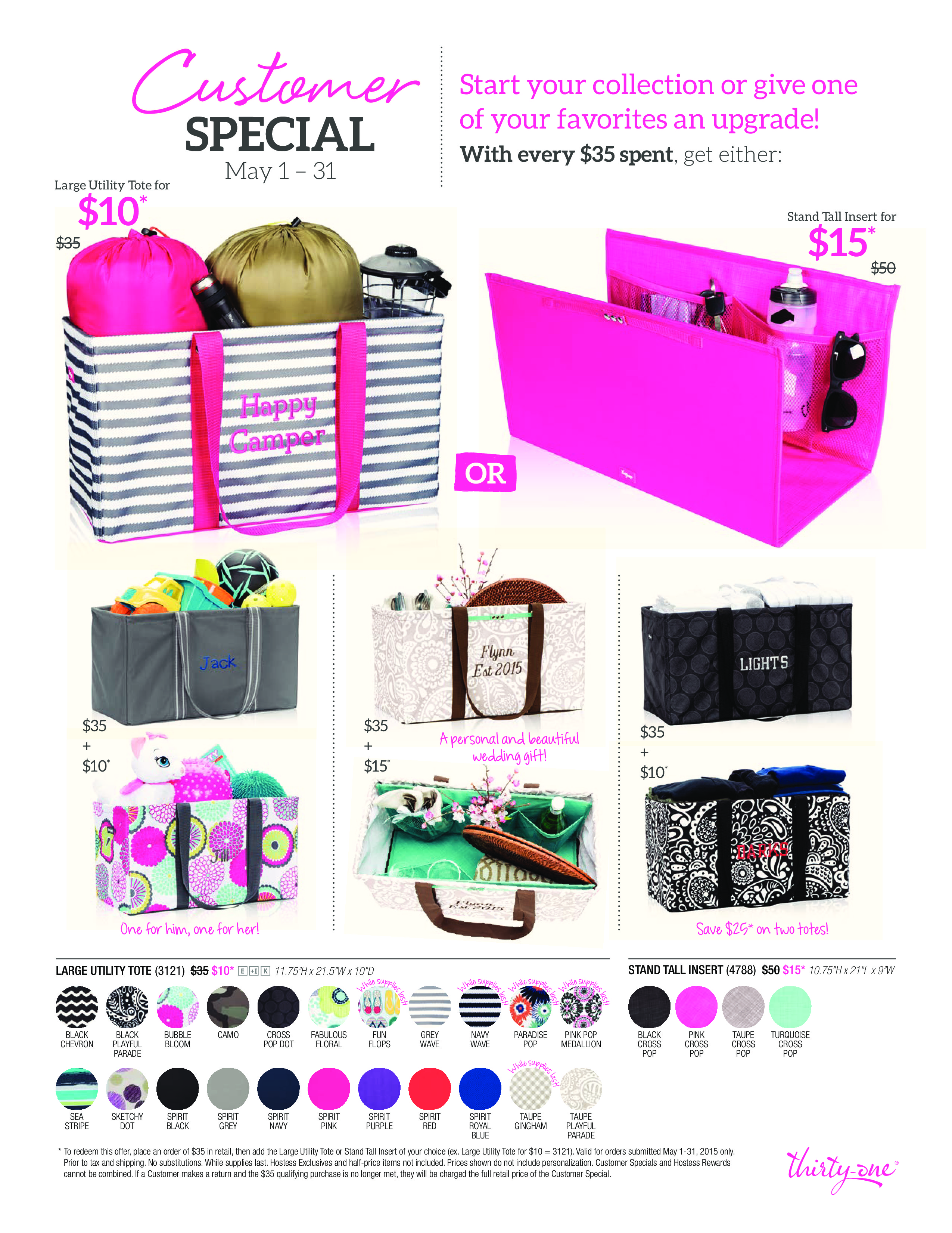 Thirty one november customer special 2014 - May Flier Page 0