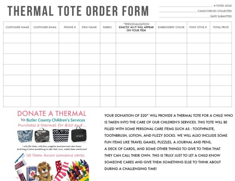 order form-personal