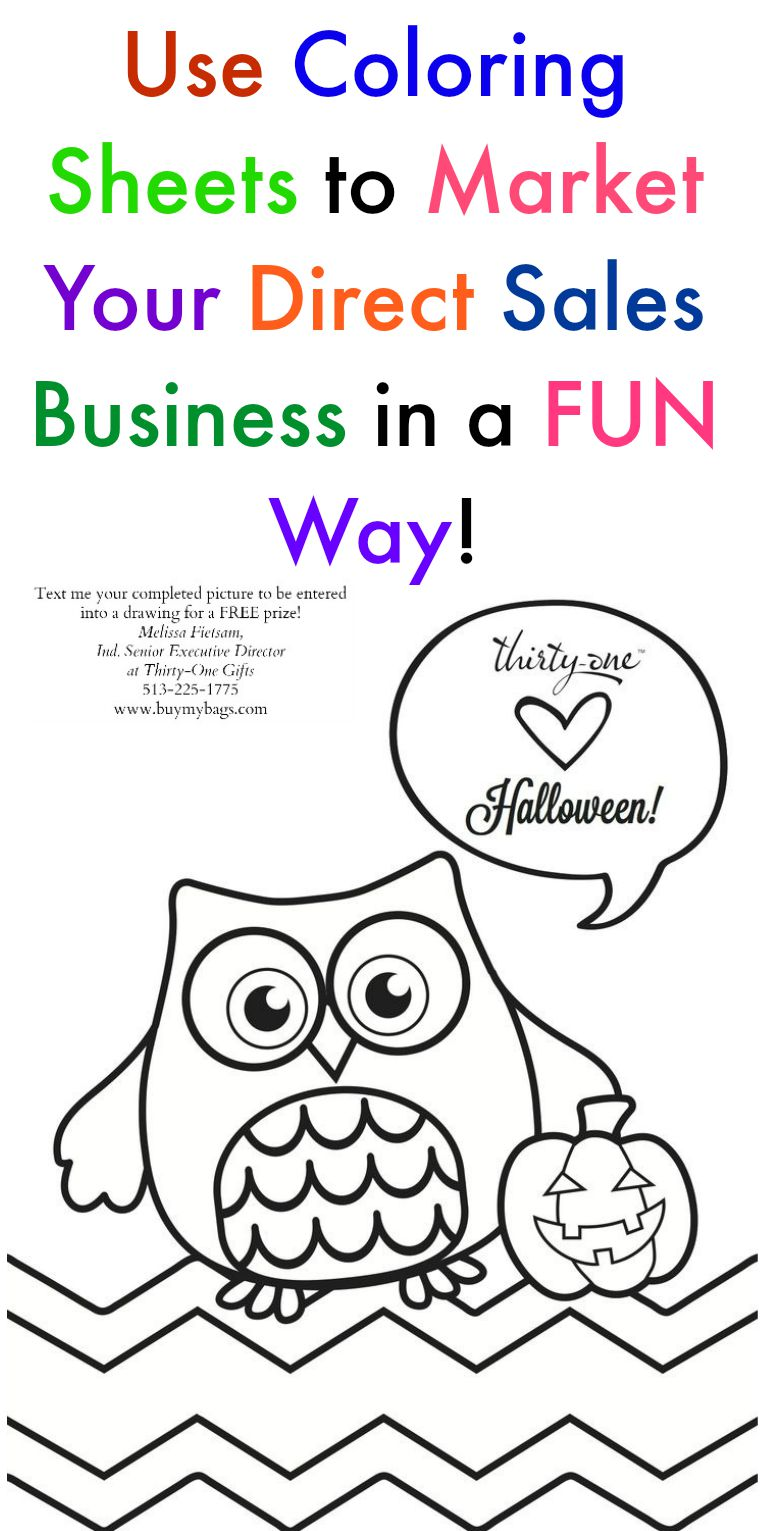 use coloring sheets for your direct sales business melissa fietsam