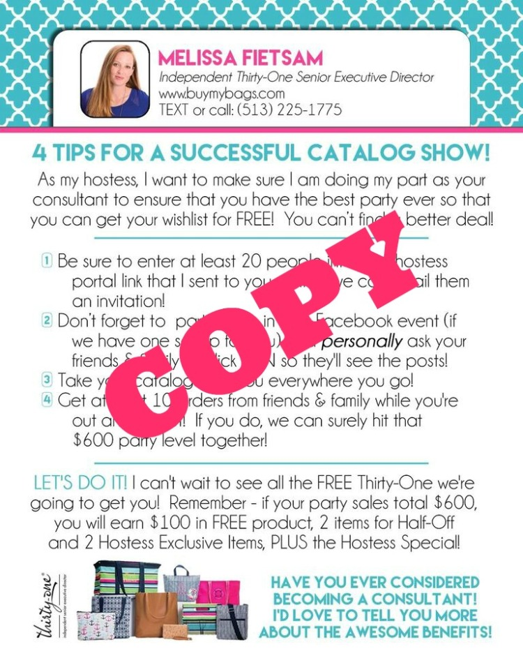 Thirty One Hostess Coaching Texting My Way Directly Social