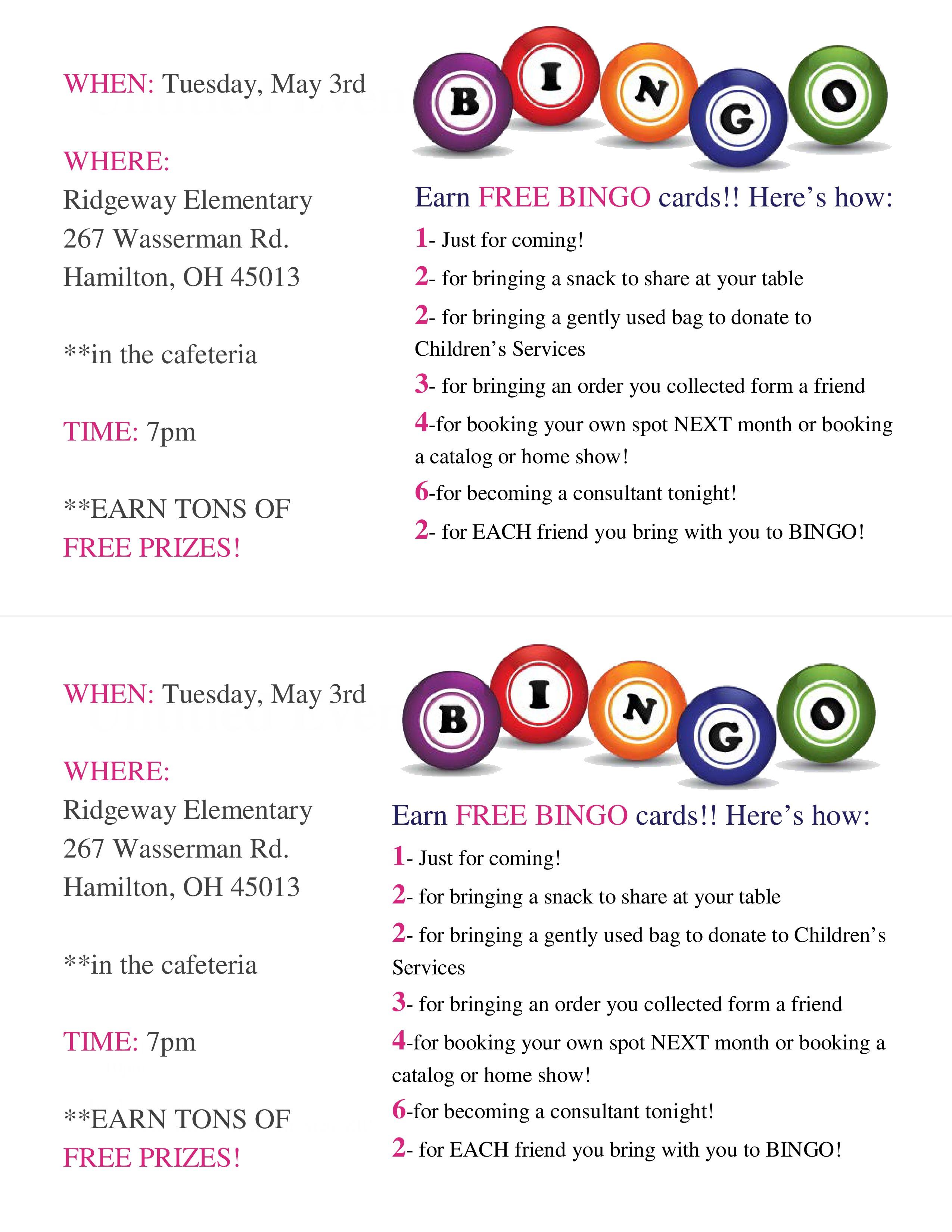 Thirty-One Bingo Invitations & Packets You Can Edit « Melissa Fietsam
