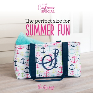 Thirty-One Gifts Medium Utility Tote and Stand Tall Insert for the Thirty-One June Customer Special!