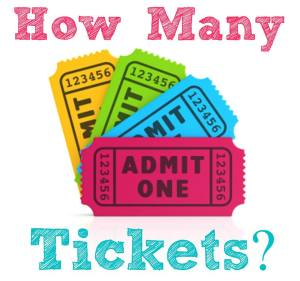 thirty-one tickets, thirty-one gifts
