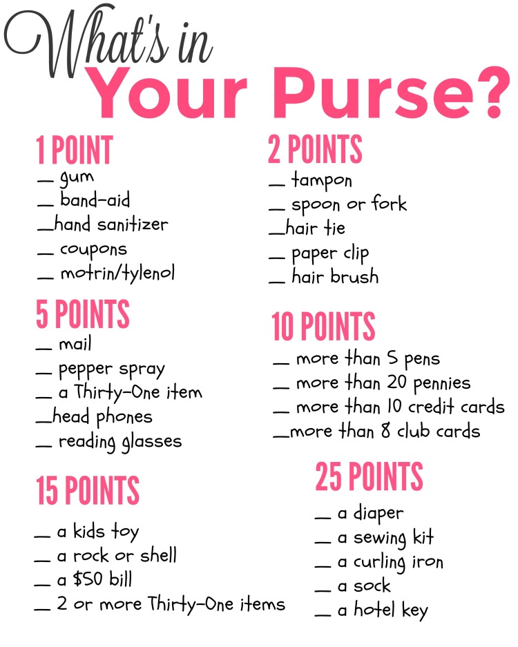 What's in Your Purse