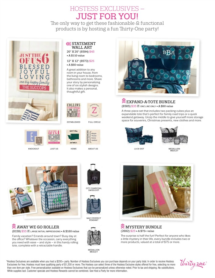 Hostess Exclusives, fall 2016, thirty-one