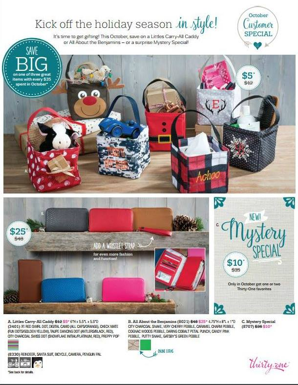 October Thirty-One customer special
