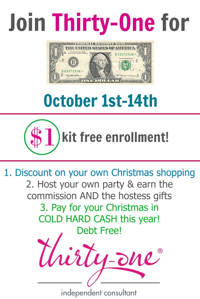 Facebook Opportunity Event For $1 Thirty-One Enrollment